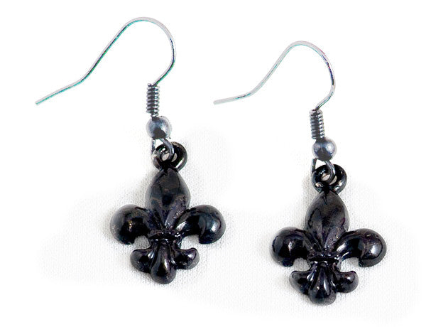 FLEUR DE LIS Black: Earrings