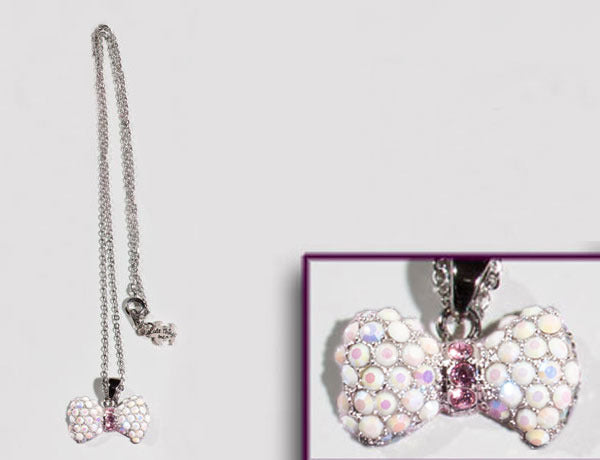 BOW Chalk White/Lt Rose Stone: Necklace
