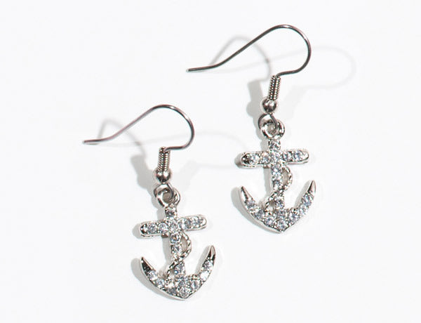ANCHOR Clear Stone: Earrings