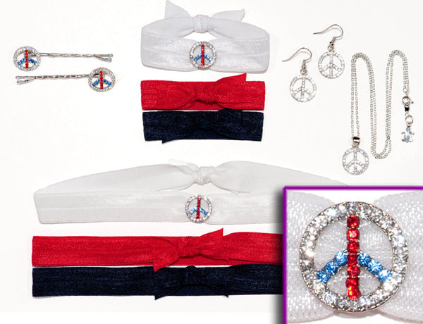 PEACE SIGN: Red, White & Blue Collection