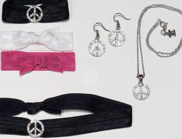 PEACE SIGN: Black Stone Charm Collection