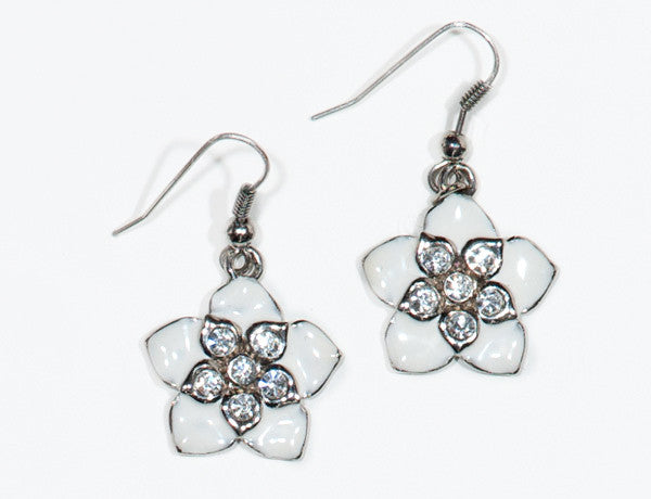 FLOWER White Hawaiian: Earrings