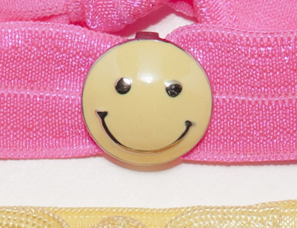 SMILEY FACE Yellow: Hair Tie/Bracelet Sets