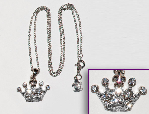 CROWN Clear Stone: Necklace