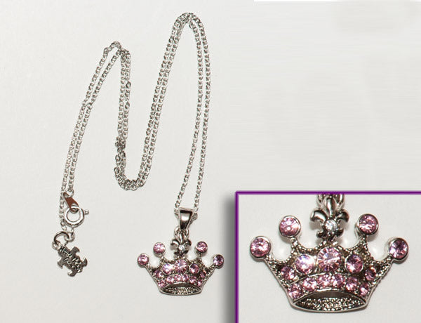 CROWN Light Rose Stone: Necklace