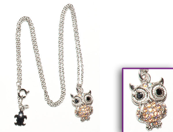 OWL Light Topaz AB Stone: Necklace