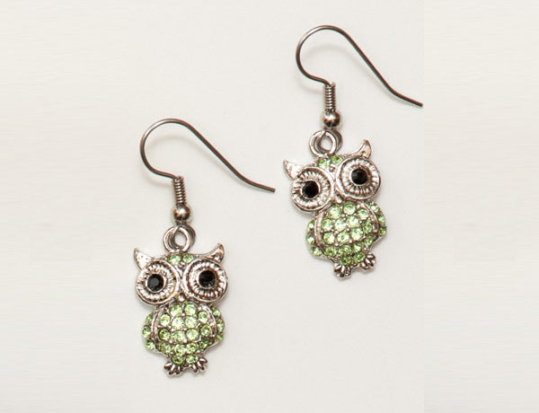OWL Peridot Stone: Earrings