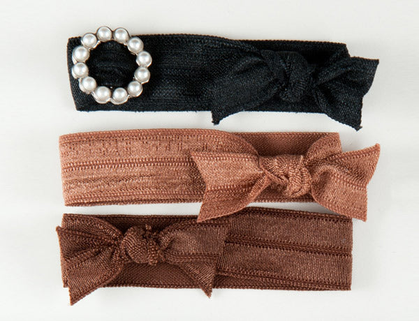 CIRCLE Pearl Stone: Hair Tie/Bracelet Sets