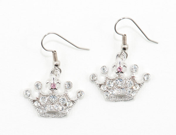 CROWN Clear Stone: Earrings