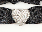 HEART PUFFY Clear Pave': Hair Tie/Bracelet Sets