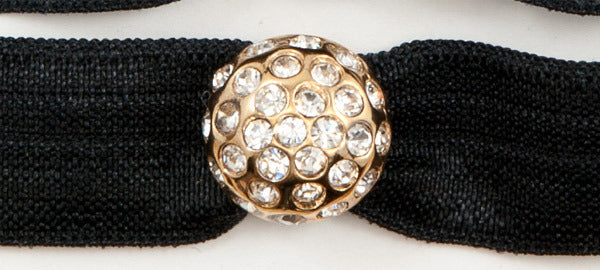 DISCO BALL Gold-Plated Clear Stones: Headband Sets