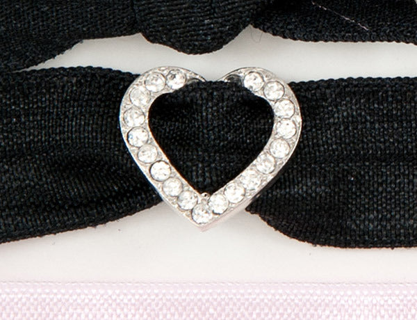 HEART OPEN Clear Stone: Hair Tie/Bracelet Sets