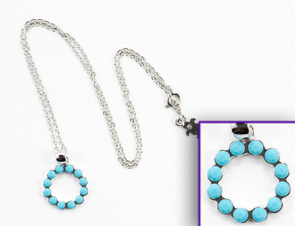 SCALLOPED CIRCLE Turquoise Stone: Necklace