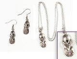 FLIP FLOP: Earrings w/ Necklace Set