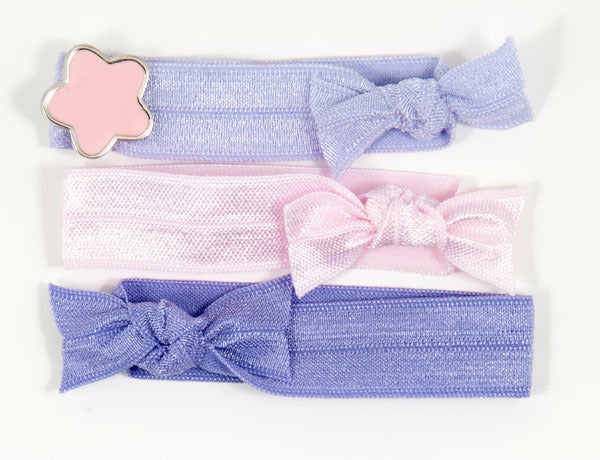 STAR Pink Charm: Hair Tie/Bracelet Sets