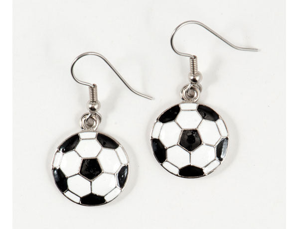 SOCCER BALL Black & White: Earrings
