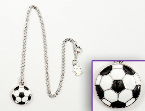 SOCCER BALL Black & White: Necklace