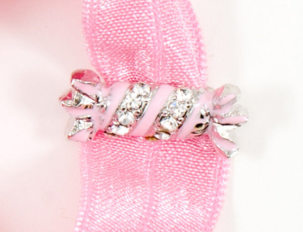 CANDY WRAPPER Pink: Hair Tie/Bracelet Sets
