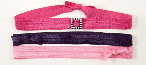 SQUARE: Chalk White Swarovski® Charm Slider Headband Set