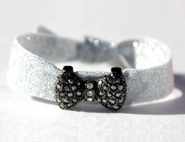 BOW REGULAR Gun/Jet Hematite: Blingy Single FLEXYs®