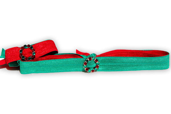 CIRCLE SCALLOPED: Holiday Lt Siam and Emerald Single Blingy FLEXYs®