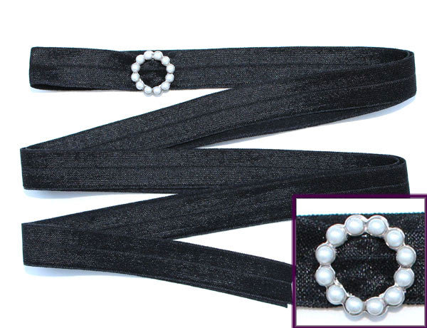 SCALLOPED CIRCLE/Pearl Stone Waist Tie FLEXY®