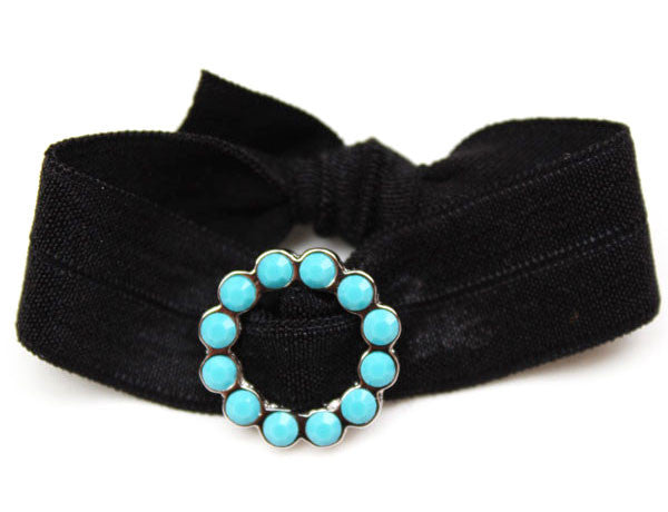 CIRCLE Scalloped Turquoise: Blingy Single FLEXY®