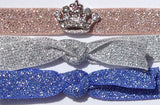 CROWN Mini Clear Stone: Hair Tie/Bracelet Sets