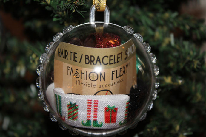 ELF: 5-Pack Hair Ties / Bracelets FLEXYs® in Bling Ball