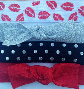 HAUTE LIPS: 4-Pack Hair Ties (Pony) / Bracelets FLEXYs®