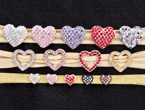 HEART Puffy & Open Charm Sliders