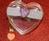 PUFFY HEART Lt. Rose Pave': Blingy Single FLEXYs®