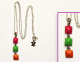 STUDS-MINI TRIPLE NEON: Necklace