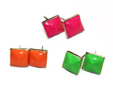 STUD NEON MINI SINGLE:  Post Earrings
