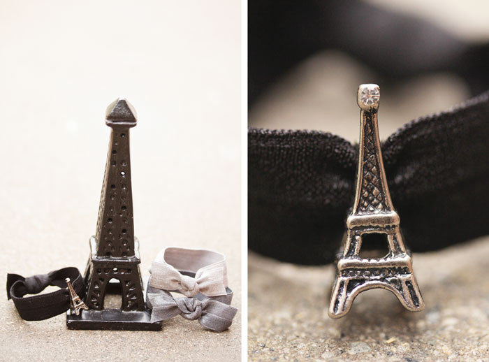 EIFFEL TOWER Antique Gray: Hair Tie/Bracelet Sets
