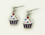 CUPCAKE Purple: Earrings