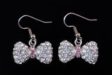 BOW Clear/Light Rose Stone: Earrings