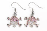 SKULL Light Rose Stone: Earrings