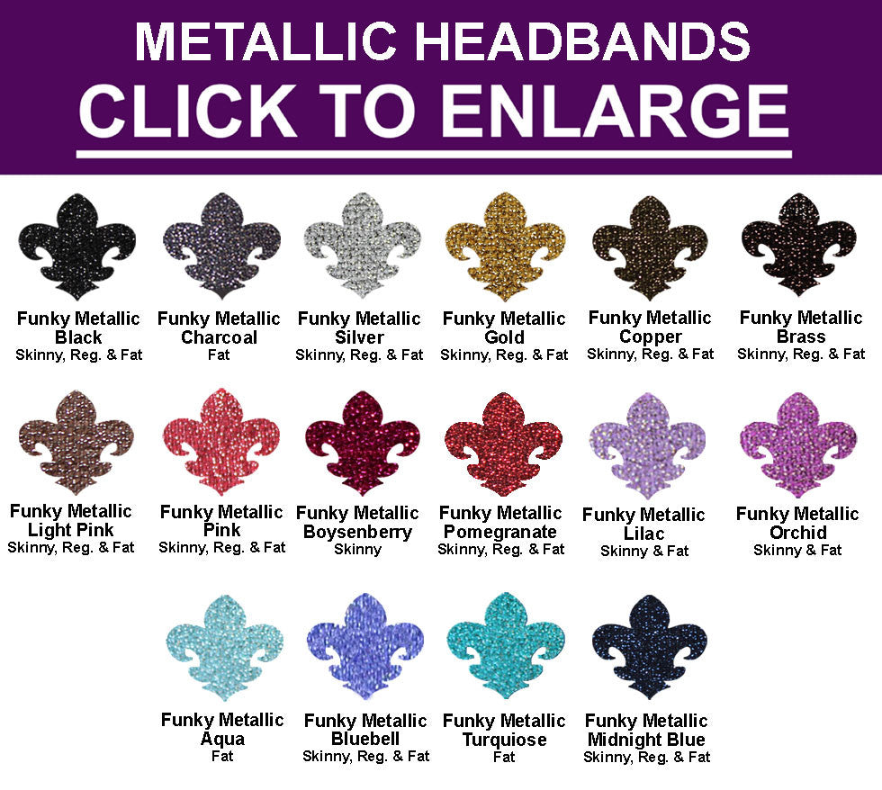 Build Your Own FUNKY METALLIC  Headband COLLECTION