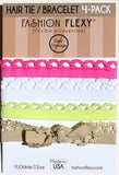 SAUSALITO: Hair Tie (Pony) Bracelet LACEY 4 Pack