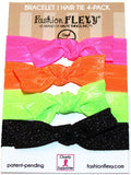 SOUTH BEACH: Hair Tie (Pony) Bracelet 4 Pack