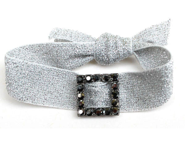 SQUARE Gun/Jet Hematite: Blingy Single FLEXYs®