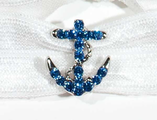 ANCHOR Sapphire Stone: Hair Tie w/ Headband 6-Packs