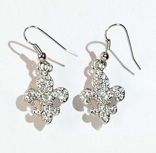 FLEUR DES LIS: Stone Charm Earrings $16.00