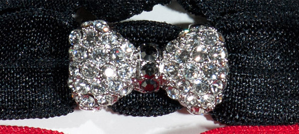 BOW Clear/Jet Hematite Stone: Headband Sets