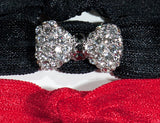BOW Clear/Jet Hematite Stone: Hair Tie w/ Headband 6-Packs