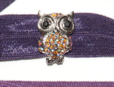 OWL Light Topaz AB Stone: Hair Tie/Bracelet Sets