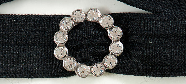 SCALLOPED CIRCLE Clear Stone: Headband Sets