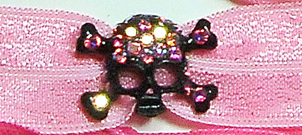 SKULL Black-Light Rose AB Stone: Headband Sets