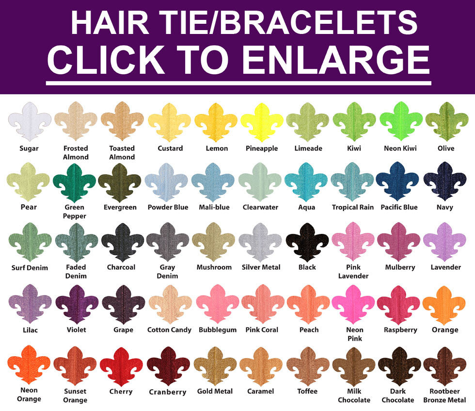 Build Your Own Solid Color Hair Tie (Ponytail)/Bracelet COLLECTION